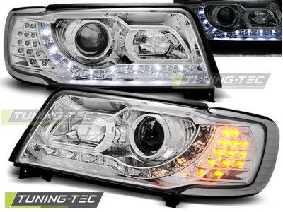 Передние фары Tuning-Tec Daylight хром для Audi 100 C4
