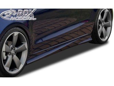 Накладки на пороги Turbo от RDX Racedesign на Audi A1 8X