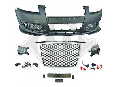 Бампер передний Black Chrome в стиле RS3 от HD для Audi A3 8P