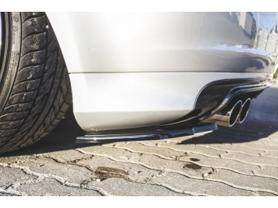 Накладки сплиттеры боковые на задний бампер от Maxton Design на Audi S3 8P