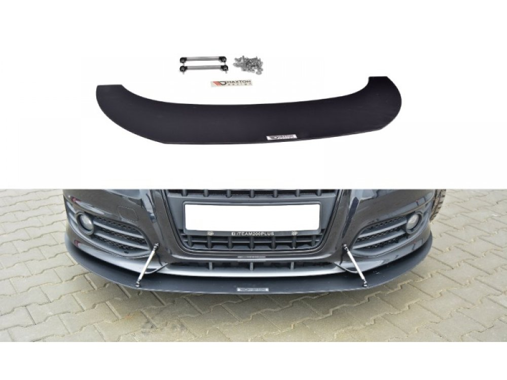 Накладка сплиттер переднего бампера V3 от Maxton Design на Audi S3 8P рестайл