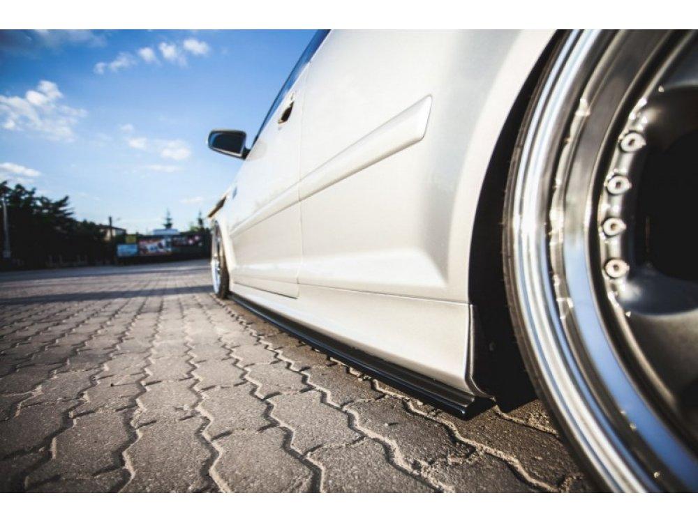 Накладки сплиттеры на пороги от Maxton Design на Audi S3 8P