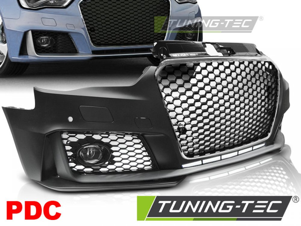 Бампер передний RS3 Look Black Chrome от Tuning-Tec для на Audi A3 8V
