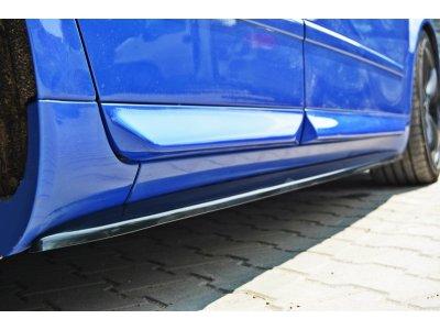 Накладки на пороги от Maxton Design для Audi S4 B6