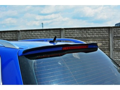 Накладка сплиттер на спойлер багажника от Maxton Design для Audi S4 B6 Avant