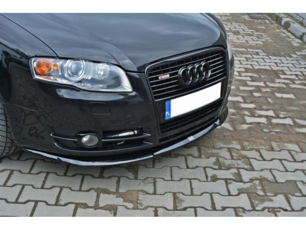 Накладка на передний бампер Var2 от Maxton Design для Audi A4 B7