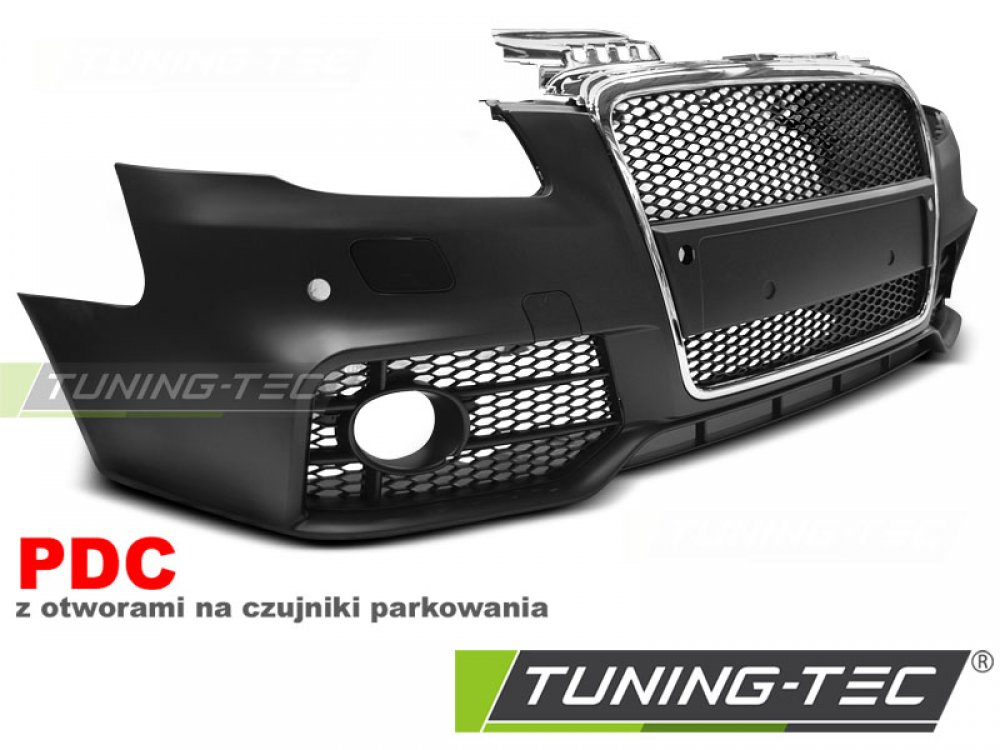 Бампер передний в стиле RS4 Black Chrome от Tuning-Tec на Audi A4 B7