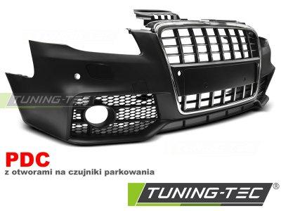 Бампер передний в стиле S-Line Black Chrome от Tuning-Tec на Audi A4 B7