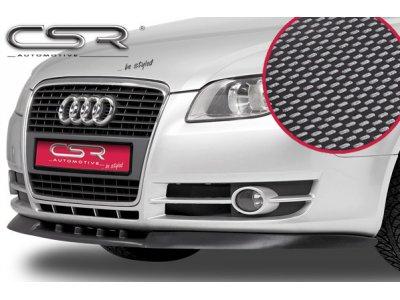Накладка на передний бампер Carbon Look от CSR на Audi A4 B7