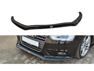 Накладка на передний бампер от Maxton Design для Audi A4 B8 рестайл