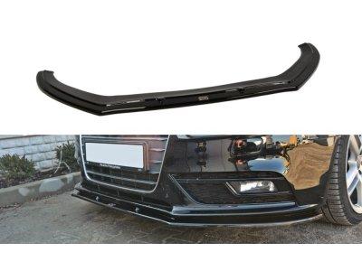 Накладка на передний бампер Var2 от Maxton Design для Audi A4 B8 рестайл