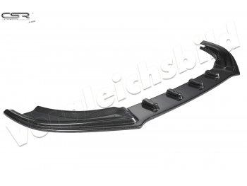 Накладка сплиттер на передний бампер Carbon Look от CSR для Audi A4 B8 рестайл