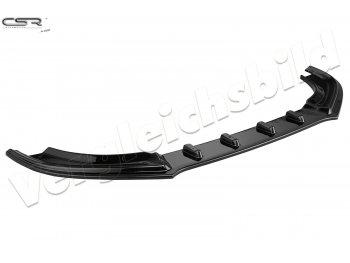 Накладка сплиттер на передний бампер Glossy Black от CSR для Audi A4 B8 рестайл
