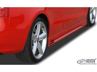 Накладки на пороги GT-Race от RDX на Audi A5 8T Coupe / Cabrio рестайл