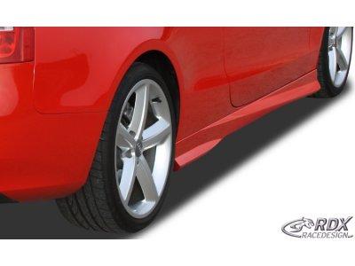 Накладки на пороги Turbo от RDX на Audi A5 8T Coupe / Cabrio рестайл