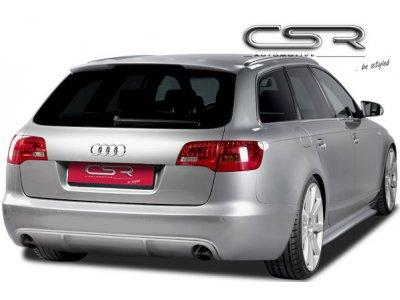 Накладка на задний бампер от CSR Automotive Var2 на Audi A6 C6 Wagon