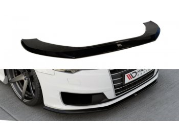 Накладка на передний бампер от Maxton Design для Audi A6 C7 Ultra