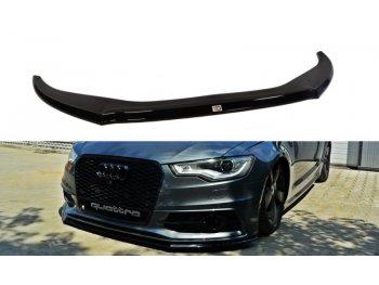 Накладка на передний бампер от Maxton Design для Audi A6 C7 S-Line