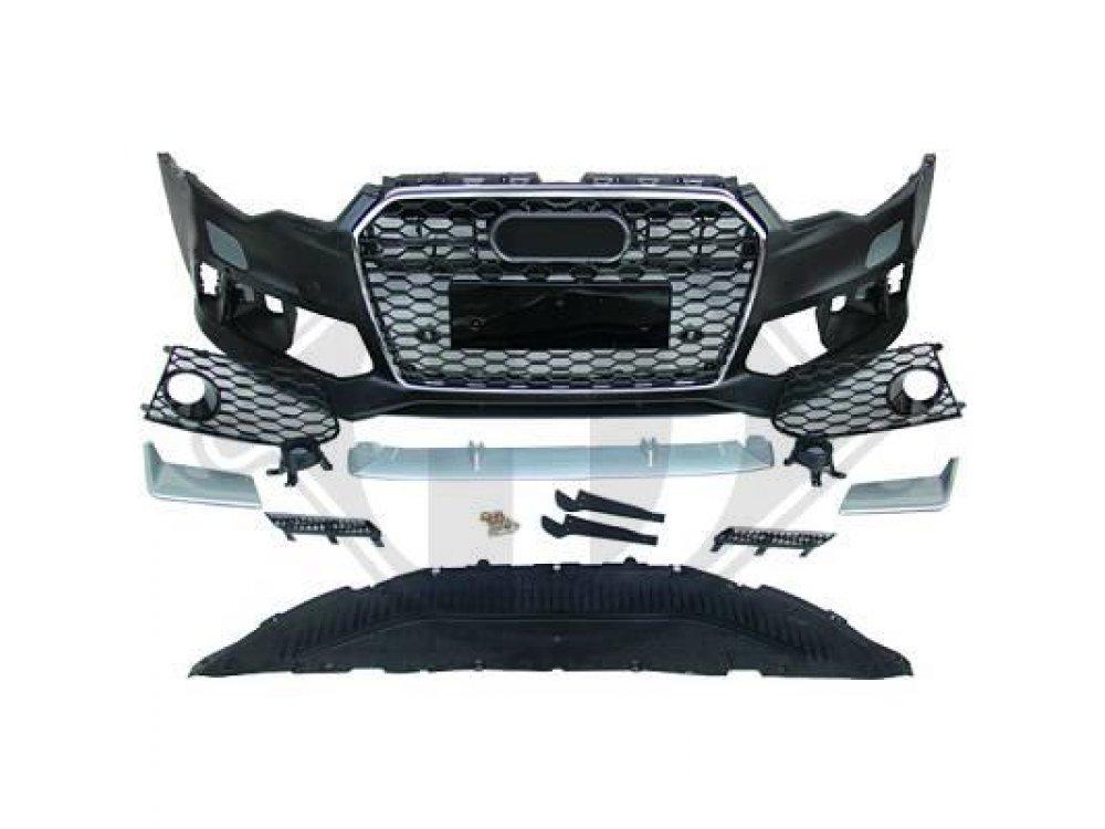 Бампер передний в стиле RS6 под ПТФ от HD на Audi A6 C7
