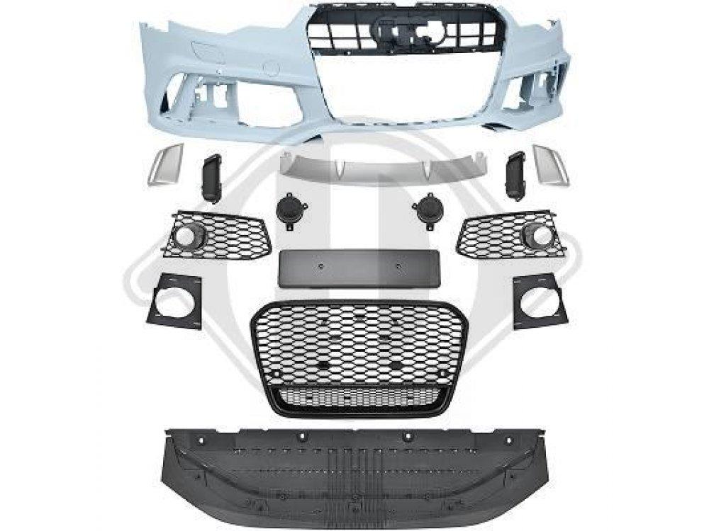 Бампер передний в стиле RS6 от HD для Audi A6 C7