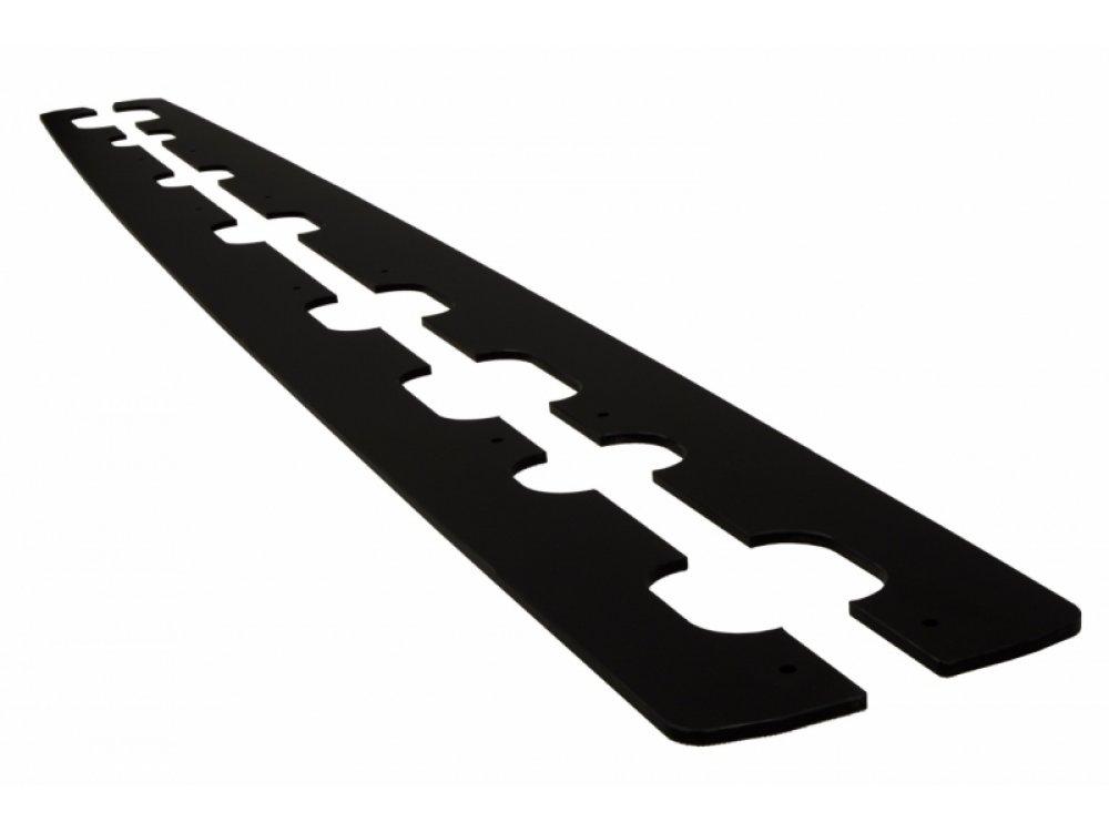 Накладки сплиттеры на пороги от Maxton Design для Audi A6 C7 S-Line Avant