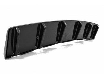 Накладка сплиттер на задний бампер центральная от Maxton Design для Audi S6 C7 Avant