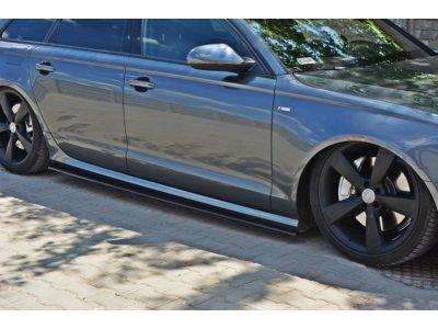 Накладки на пороги от Maxton Design для Audi A6 C7 S-Line