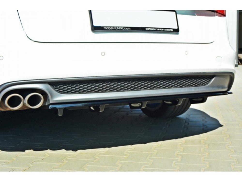 Накладка на задний бампер центральная от Maxton Design для Audi A6 C7 S-Line Avant
