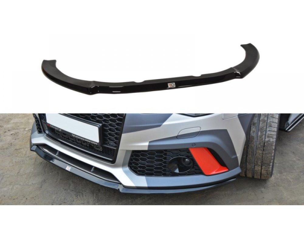 Накладка сплиттер на передний бампер от Maxton Design для Audi RS6 C7