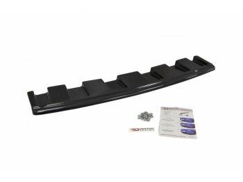 Накладка сплиттер на задний бампер центральная Var2 от Maxton Design для Audi S6 C7 Avant