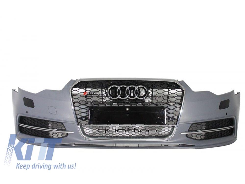 Бампер передний в стиле RS6 от KITT на Audi A6 C7