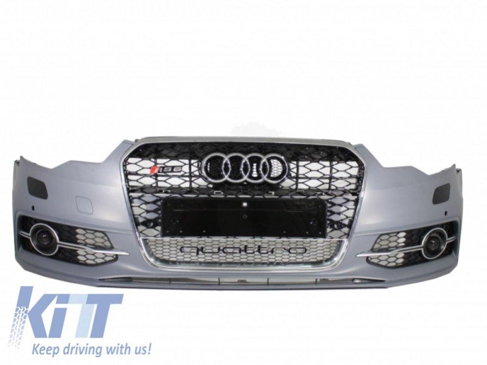 Бампер передний в стиле RS6 под ПТФ от KITT на Audi A6 C7