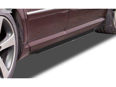 Накладки сплиттеры на пороги от RDX на Audi A8 D3