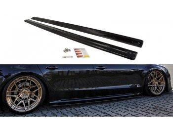 Накладки сплиттеры на пороги от Maxton Design на Audi S8 D4