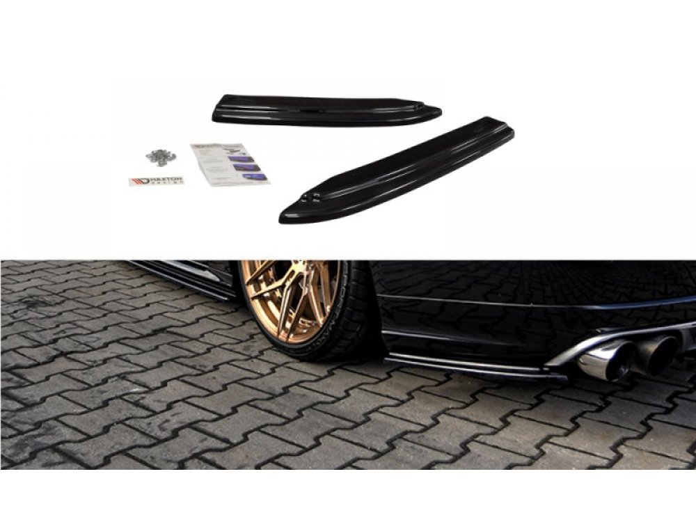 Накладки сплиттеры боковые на задний бампер от Maxton Design на Audi S8 D4