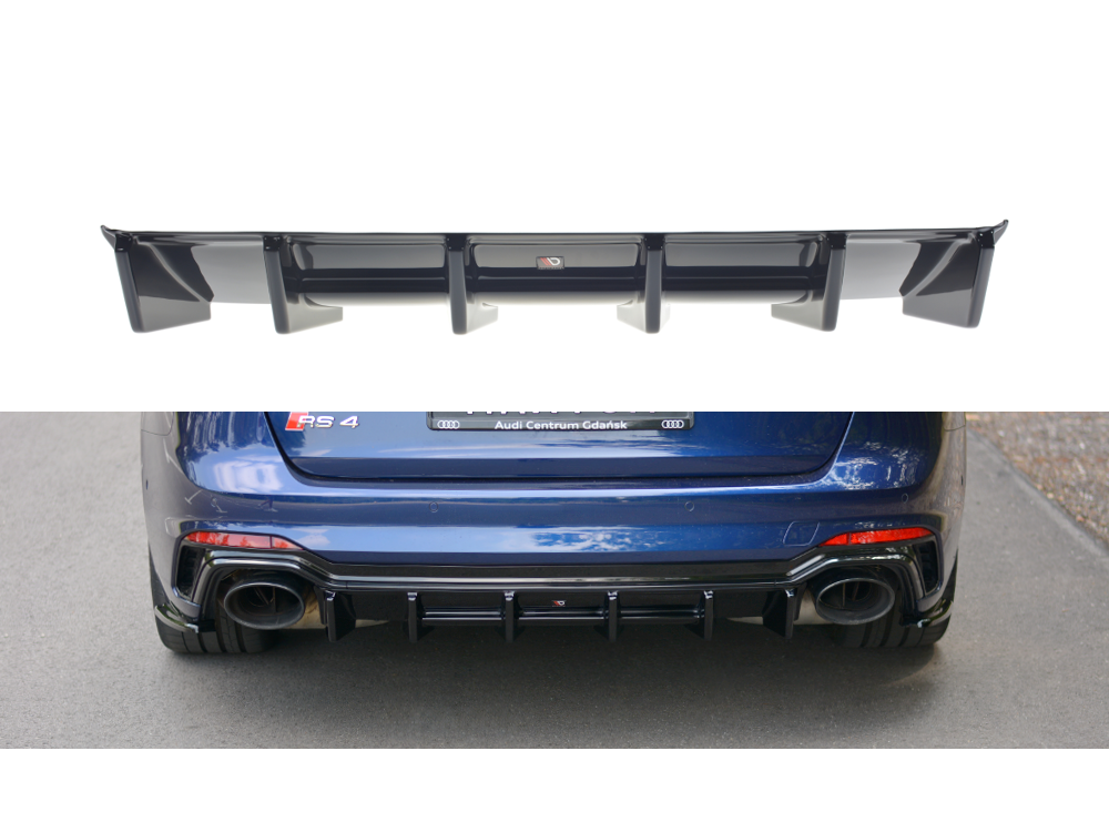 Диффузор заднего бампера Maxton Design для Audi RS4 B9 Avant