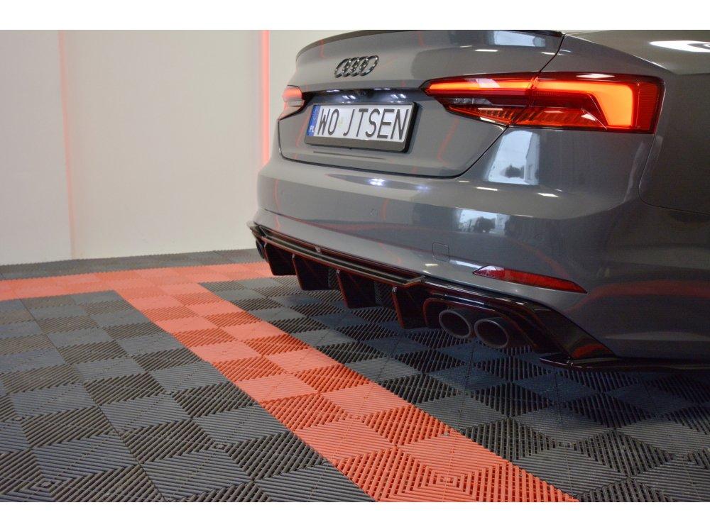 Диффузор заднего бампера Maxton Design для Audi S5 / A5 B9 S-Line
