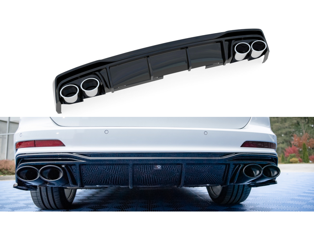 Диффузор заднего бампера Maxton Design для Audi A6 C8 S-Line
