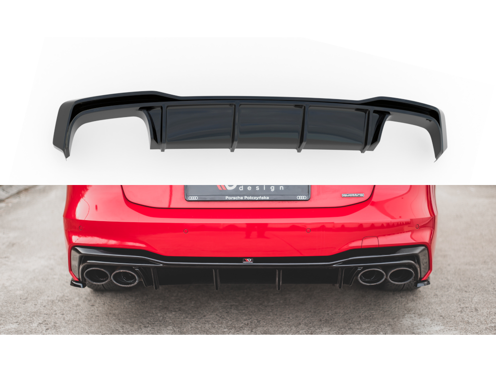 Диффузор заднего бампера Maxton Design для Audi A7 C8 S-Line