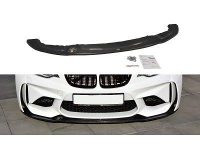 Накладка сплиттер карбон на передний бампер от Maxton Design на BMW M2 F87