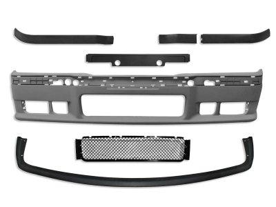 Бампер передний в стиле M-Tech с губой для BMW 3 E36