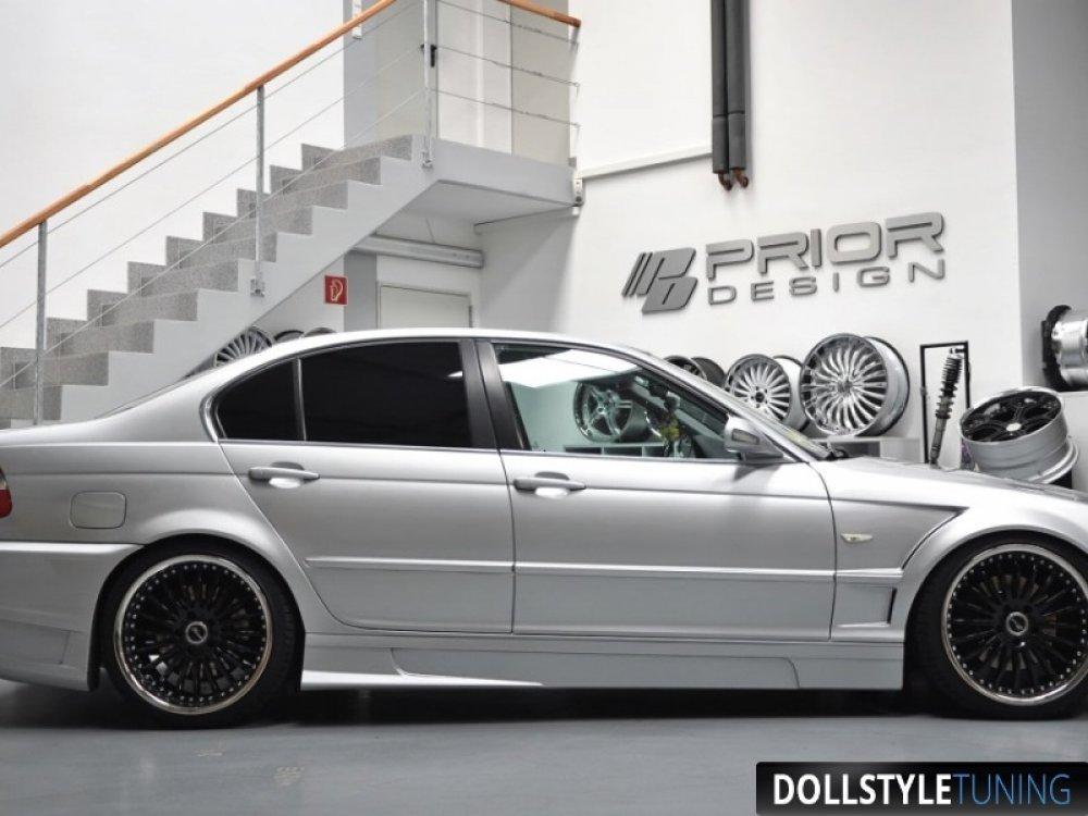 Накладки на пороги Prior-Design Exclusive на BMW 3 E46 (реплика)