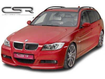 Накладка на передний бампер от CSR Var2 на BMW 3 E90 Limousine / E91 Touring