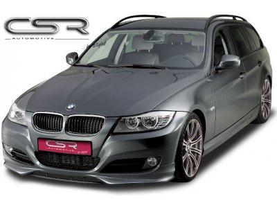 Накладка на передний бампер от CSR Var2 на BMW 3 E90 Limousine / E91 Touring рестайл