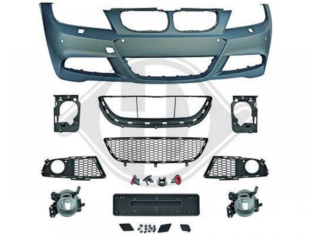 Бампер передний в стиле M-Tech для BMW 3 E90 / E91 рестайл