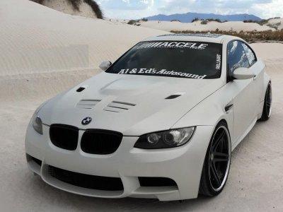 Капот с жабрами Prior-Design на BMW 3 E92 / E93 дорестайл (реплика)