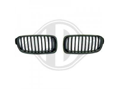 Решётка радиатора от HD Glossy Black на BMW 3 F30 / F31