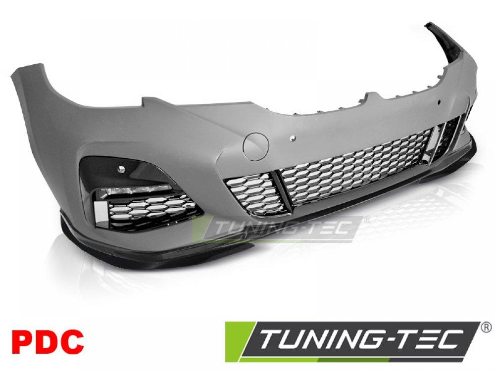 Бампер передний в стиле M-Performance глянец под парктроники от Tuning-Tec на BMW 3 G20 / G21