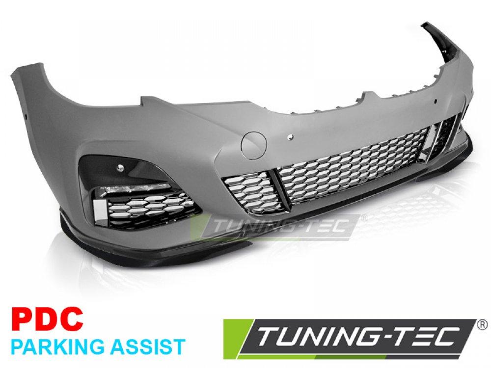 Бампер передний в стиле M-Performance глянец под парктроники и PA от Tuning-Tec на BMW 3 G20 / G21