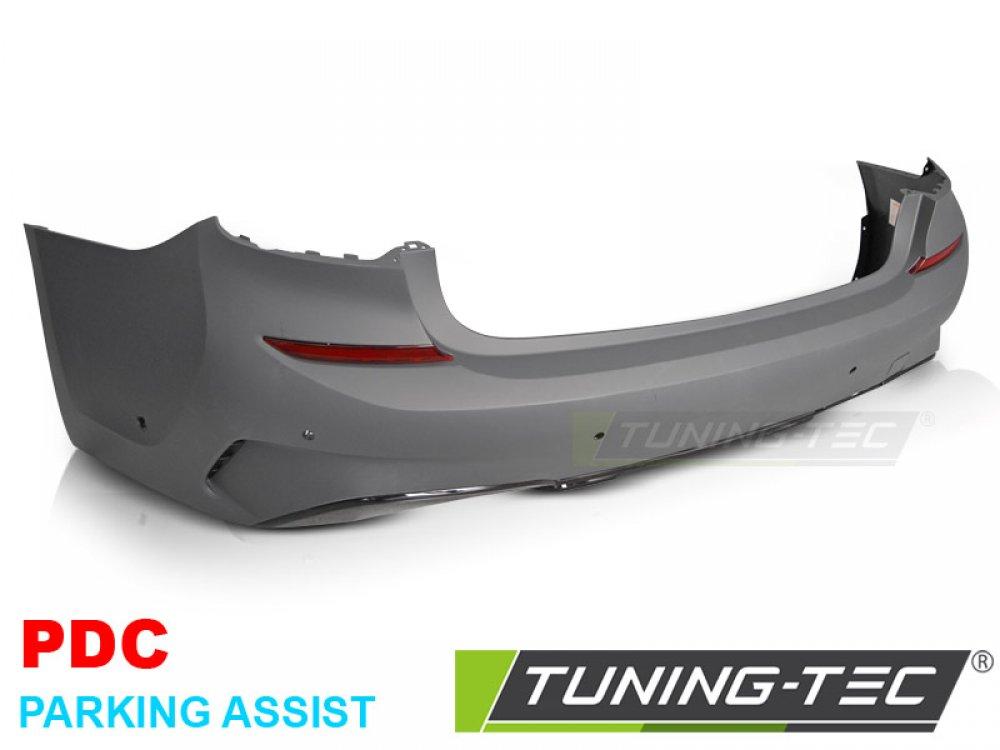 Бампер задний глянец в стиле M-Tech под парктроники и PA от Tuning-Tec на BMW 3 G20 / G21